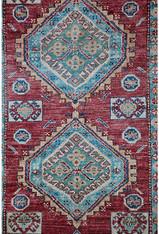 """Afghanistan Tribal Wool Rug 6'1"""" x 4'"""