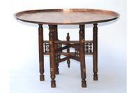 Large Anatolian Copper Tray Table