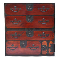 19th C Japanese Two-Part Tansu