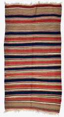 """Antique Caucasian Shirvan Stripe Rug 4'3"""" x 8'"""