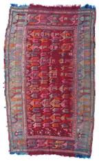 Caucasian Verneh Camel Caravan Kilim Rug