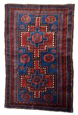 Antique Russian Caucasian Pile Rug