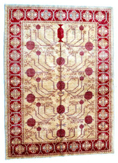 Afghan Oushak Vegetable Dyed Wool Rug