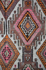 "Antique Anatolian Turkish Kilim Runner  3'6"" x 12'8"""