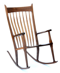 Hand-Crafted Wooden Rocking Chair