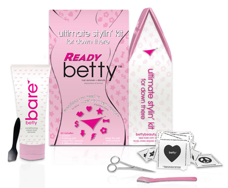 BEST way to remove bikini hair!  • Long lasting results • No more painful Brazilian bikini wax • No more ingrown hairs or bumps • Hygienically-safe to use frequently • Removes hair deep in follicles with   no irritations Kit includes: • bettybare™ revolutionary   cream hair remover • 8 unique stencil shapes • petite custom scissors • specialty finishing too