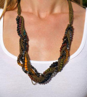 "Colorful Twist Necklace Length 26.5"" extender 2.5"""