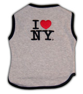 I Love NY Official Embroidered Dog Shirt