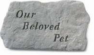 "Memorial Stone - ""Our Beloved Pet"""