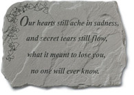 Memorial Stone - Our hearts still ache...
