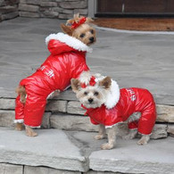 Ruffin It Red Snowsuit