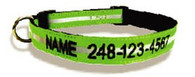 Safety Reflective Personalized Collar