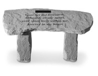 Personalized Memorial Small Stone Bench