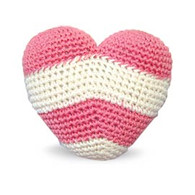 Stripy Heart Crocheted Toy
