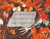 Memorial Stone - In memory Of...