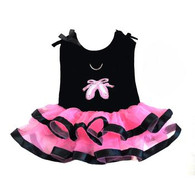 Ballerina Slipper Tutu Embroidered Dress