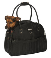 My Canine Kids Quilted Shopper- Black
