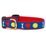 I Heart Tennis Balls Dog Collar / Leash