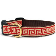 Red Greek Key Collar / Lead