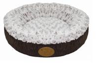 Brown Curl Plush Doughnut Bed