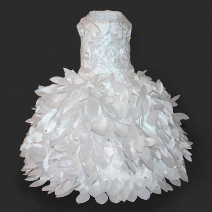 Cinderella Princess White Glamour Dog Wedding Dress The