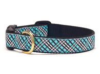 Aqua Plaid Dog Collar