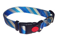 Foxy Collars Blue Diagonal Stripe Collar /Leash