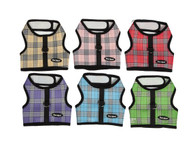 Wrap N Go Plaid Mesh Velcro by Bark Appeal-New Colors!