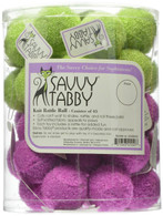 Savvy Tabby Knit Rattle Ball