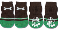 Bone Print Non-Skid Dog Socks