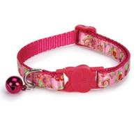Savvy Tabby Raspberry Spring Garden Cat Collar