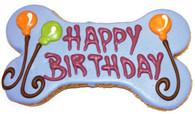"""6"""" Happy Birthday Bone Blue"""