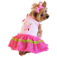 Doggie Design Flamingo and Palm Tank Dog Dress