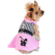 Doggie Design Pink Poodle Designer Dog Dress