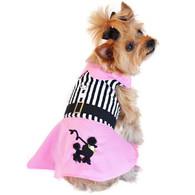 Doggie Design Pink Poodle Designer Dog Dress