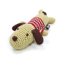 Crochet Lazy Dog Toy