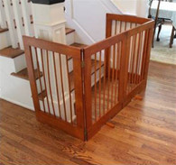 4-Panel Freestanding Tall Pet Gate