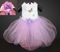 Lavendar Rose Paris Butterfly Tutu Dog Dress by Orostani Couture