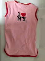 Pink I Love NY Official Embroidered Dog Shirt