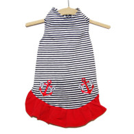 Nautical Stripe Dress with Anchors