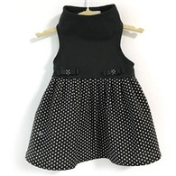 Black Top W/Dotted Skirt Dress