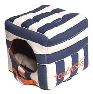 Polo-Striped Convertible House Bed