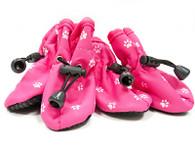 Dogo Pink Paw Print SlipOn Paws Boots