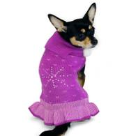 Rhinestone Snow Flake Sweater Dress