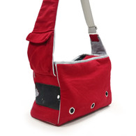 DOGO Red Boxy Messenger Bag