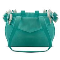 Susan Lanci Nouvea Bow Luxury Purse Carrier-Bimini Blue