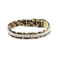Susan Lanci 2 Row Cheetah Couture Giltmore Collar