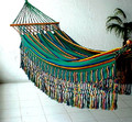 "Colombian ""Santa Marta"" Corolino Fabric Hammocks - Decor Borders & Bars (Red Green Blue)"