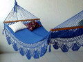 """Single"" ROYAL BLUE Sprang-Woven Nicamaka® Hammock"