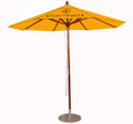 9' 600 D Top Neo Asian Harwood Umbrellas